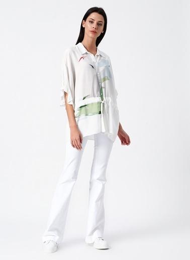 Random Gömlek Bluz Beyaz